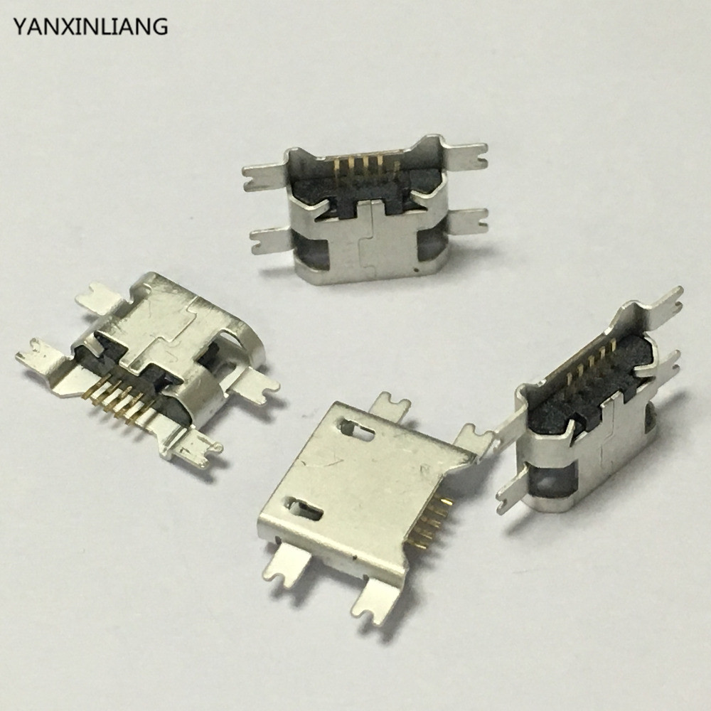 10PCS Micro USB 5pin B type Female 4Legs SMT SMD For Mobile Phone Micro USB Jack Connector 5 pin Charging Socket Flat Mouth10PCS Micro USB 5pin B type Female 4Legs SMT SMD For Mobile Phone Micro USB Jack Connector 5 pin Charging Socket Flat Mouth