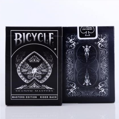 Shadow Masters Original Bicycle Shadow Playing Card magic trick Black Deck By Ellusionist Creative Poker Magic Props