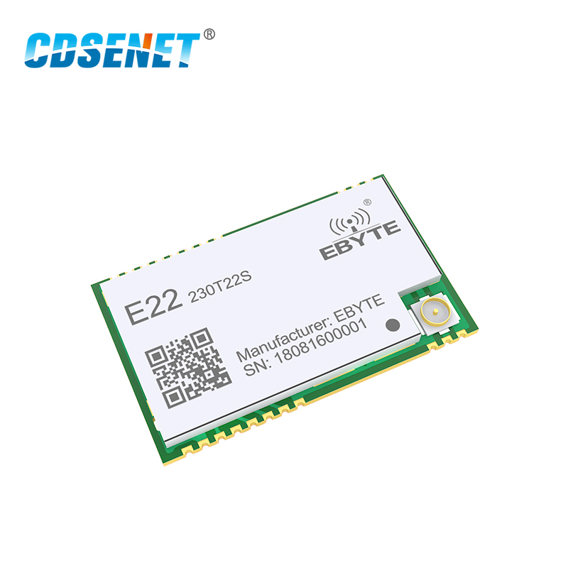 SX1262 UART 22dBm 230MHz Wireless Transceiver E22-230T22S UART LoRa Net  Working RSSI SMD IPEX Stamp Hole RF Module Transmitter