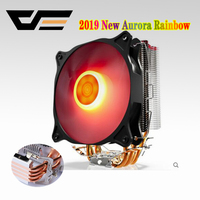 AIGO E4 CPU radiator 120mm 4pin cooling CPU fan PC quiet 4 Heatpipes CPU cooler for AMD Intel 775 1150 1151 1155 1366