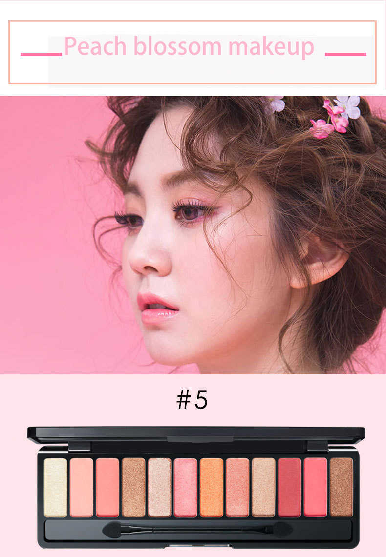 Eye Shadow Lameila Brand 10or12 Color Eye Shadow Of Cherry Blossoms Suit Pearl Light Dumb Light Lasting Coloration Waterproof Eye Shadow