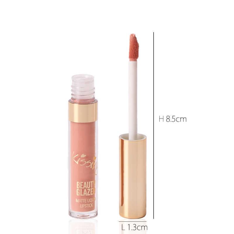Beauté glacé mat brillant à lèvres Sexy liquide rouge à lèvres imperméable longue durée hydratant professionnel lèvres maquillage 6 pièces en 1 ensemble
