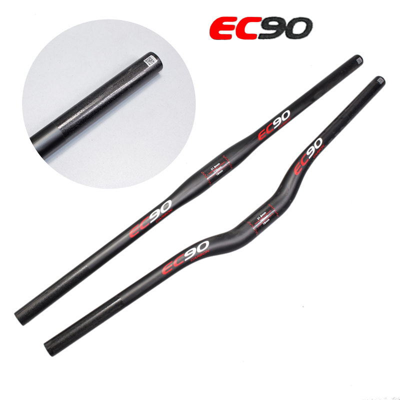 2017 new EC90 full Carbon fiber MTB/Mountain Bicycle Bend Riser Handlebar/Straight Flat Handlebar UD Matte 31.8mm*600-760mm