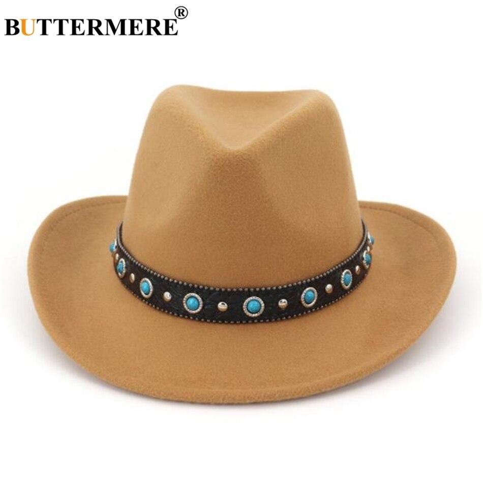 BUTTERMERE rojo sombrero de vaquero de los hombres Jazz sombreros de ... b72e6566c96