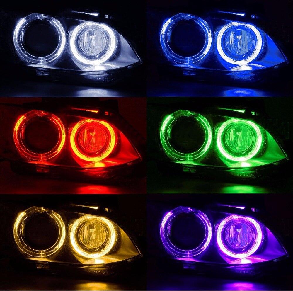 Лидер продаж 2X36 Вт 72 Вт Wi-Fi управления изменения цвета RGB LED Angel Eyes Halo Кольца для BMW e92 X5 X6 Z4 H8 LED Canbus Светодиодные лампы