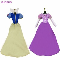 2 Pcs Lot High Quality Dresses Fairy Tale Copy Snow White Tangled Princess Skirt Clothes For