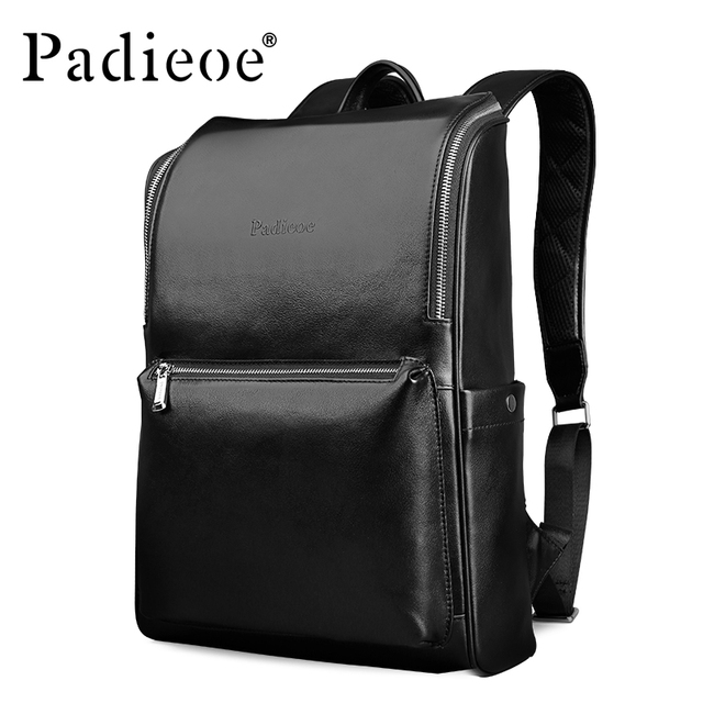 aad3bc6e70bf Padieoe Designer Cow Leather Women Backpack Genuine Leather Laptop Bag for  Travel Fashion Men Daypack High
