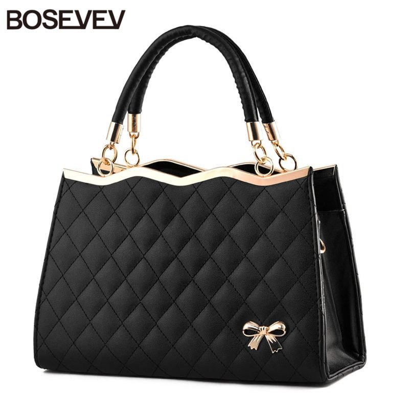 2017 New Pu Leather Women Handbags Ladies Fashion Black Women's Shoulder Bags Famous Designer Brand Bags Women Leather Handbags