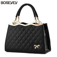2017 New Pu Leather Women Handbags Ladies Fashion Black Women s Shoulder Bags Famous Designer Brand