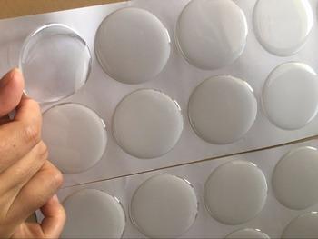 Okrągłe naklejki epoksydowe do butelki zakręcane wisiorki 2 Cal (50 8mm) jasny kolor 10 sztuk tanie i dobre opinie