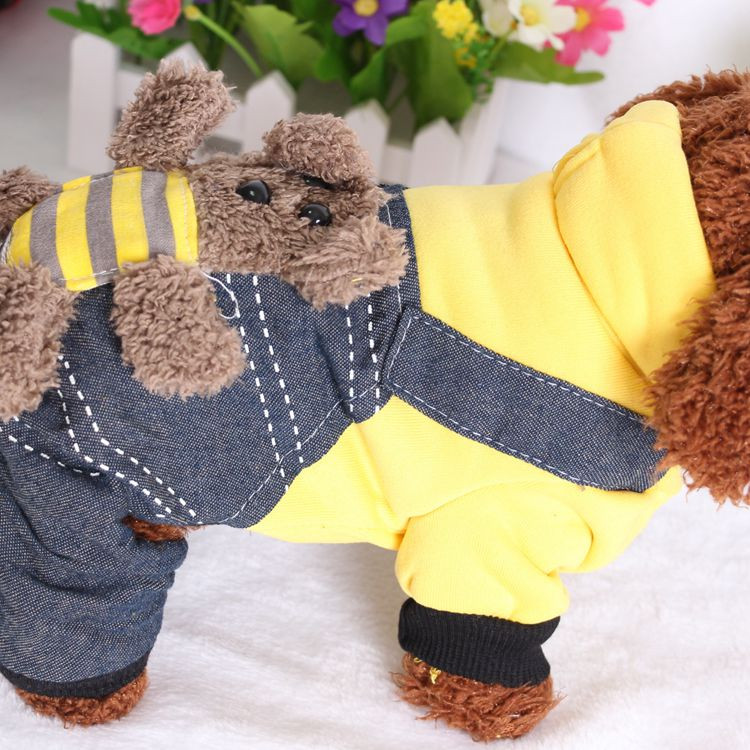 SYDZSW New Chihuahua Clothing Red Yellow Sport Dog Coat Hoodie for Small Dogs Cats Puppy Pet Jeans XS S M L XL XXL Dog Costume Wholesale4
