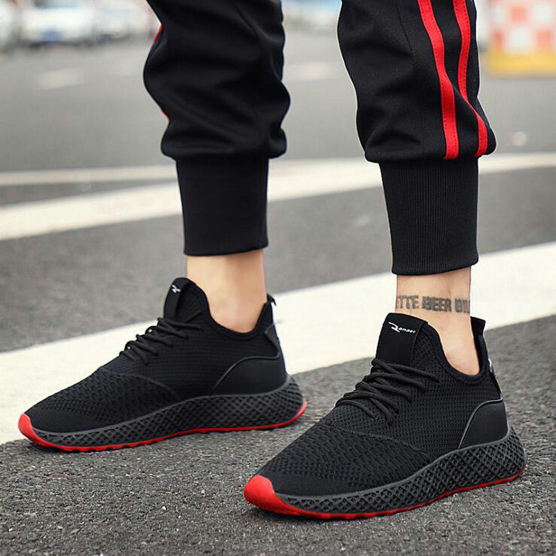 Fashion boys casual Sneakers Lightweight Tenis Shoes Men Casual Shoes Lace-up Male Flats Walking shoes LH-90Z