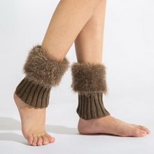 1 Pair Winter Warm Leg Warmers Women's Boot Cuffs Knitted Sock Short Boot Socks thigh bands gaiters 7 Colors(China)