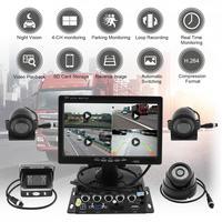 7 дюймов 8 36 в 4CH 720 P HD TFT ЖК дисплей Quad автомобиль заднего вида монитор с 4X CCD водостойкая ИК металлическая крышка камеры система для грузовика