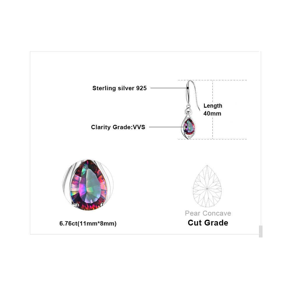 7ct אמיתי קשת מיסטיק טופז Drop עגילי 925 כסף סטרלינג עגילים לנשים אבני חן עגילי תכשיטים 2019