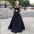 Black Party Maxi Skirts Graceful A Line High Waist Floor Length Skirts Cheaper Custom Made Prom Skirts Free Shipping