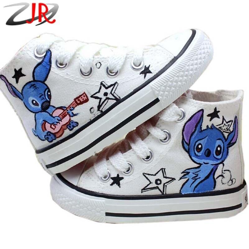 Anime Hallo Lilo Stitch und Handgemalte Schuhe ZFF Graffiti SULGzVMqjp