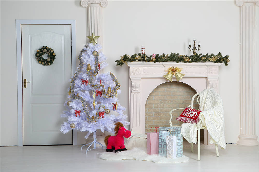 Vinyl Backdrops Christmas Tree Photo Studio Props Child Photography Toy Gift Background 7x5ft or 5x3ft  Christmas062 christmas background pictures vinyl tree wreath gift window child photocall fairy tale wonderland camera photo studio backdrop
