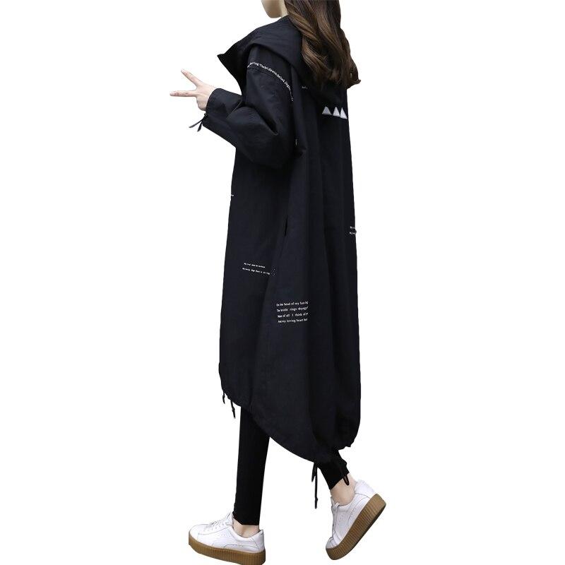 2018 Fashion Womens hoody Spring Trench Coat Autumn Winter South Latest Ladies Fashion Elegant Solid womens windbreaker