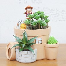 Resina Flower Vase Flower Plant Garden Soothing mood Succulente Mordern Building And Animal Flowers Pots macetas Hot Sale 2017