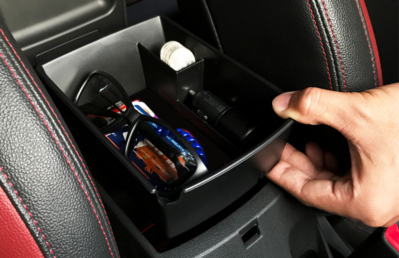 Central Console Armrest Storage Box Container Secondary Holder For Hyundai Verna Accent Solaris 2018 Car-styling accessories universal leather car armrest central store content storage box with cup holder center console armrests free shipping