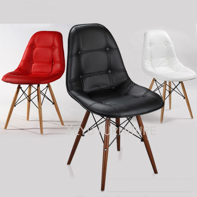 Prime Us 179 0 Modern Design Solid Wooden Leg Soft Cover Pu Padded Dining Chair Popular Fashion Design Chair With Cushion Upholstered Chair 1Pc In Dining Andrewgaddart Wooden Chair Designs For Living Room Andrewgaddartcom
