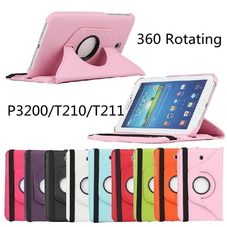 Novi Fanshion 360 vrtljivi PU usnjena torbica za Samsung Galaxy Tab 3 - Dodatki za tablične računalnike - Fotografija 6