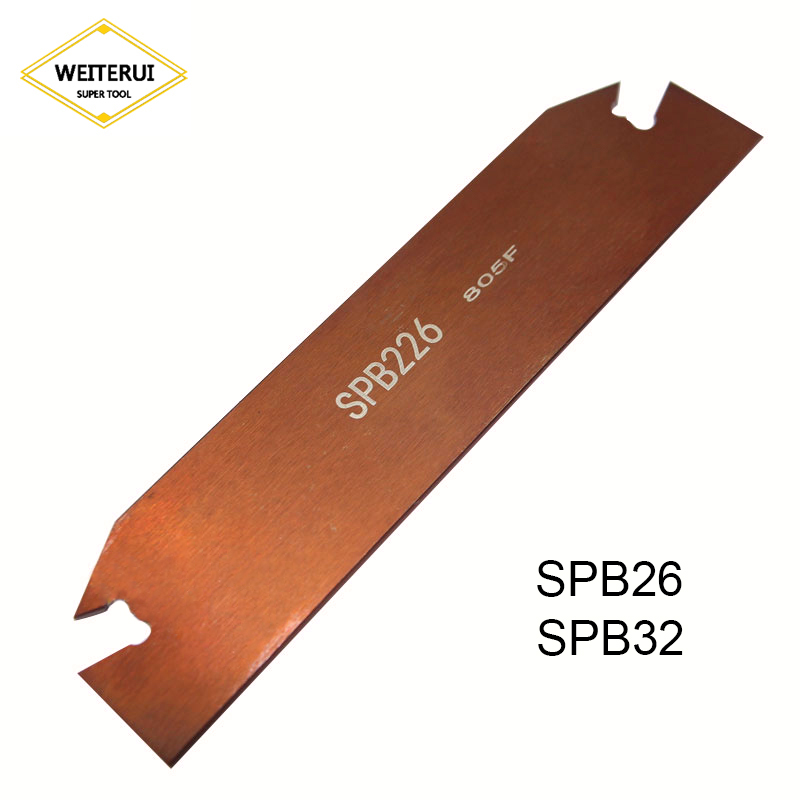 Купить с кэшбэком 1pc SPB26 SPB32-3/-2/-4/5/-6 Grooving Blade for SP300 SP400 PC9030/NC9030 Inserts Slotting tool