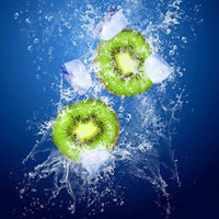 DIY Diamond Painting Ice Cubes Kiwi Stick Crystal Full Diamond Cross Stitch Embroidery Entrance Decoration Painting