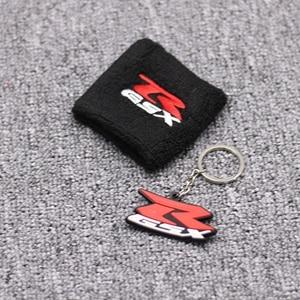 1 пара черный мотоциклетный передний тормоз резервуар носок масляный бак крышка рукав для Suzuki GSXR 600 750 1000 - Цвет: 1