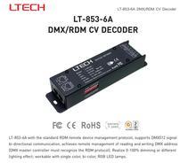 LTECH LT-853-6A DC12-24V 3CH CV DMX RDM светодиодный декодер 6A * 3CH Max 18A выход RJ45 DIP-переключатель для RGB Светодиодные ленты света лампы ленты