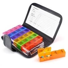 Hot Sale 28 Grids 7 Days Pill Box Tablet Pill Box Holder Medicine Storage Health Care Medicine Dispenser Storage Health Care