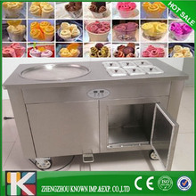 Round pan 1+6 thailand ice cream maker 1panthailand rolled fried ice cream machine