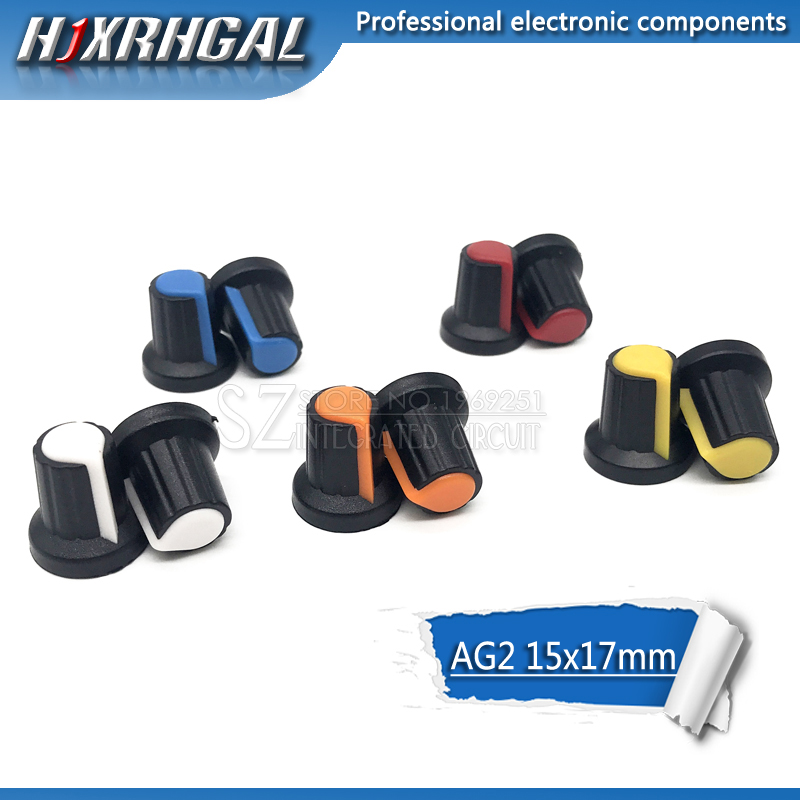 Genteel 20pcs Wh148 Potentiometer Knob Cap Yellow Orange Blue White Red 15x17mm Ag2 Knob Hjxrhgal Pure And Mild Flavor Integrated Circuits