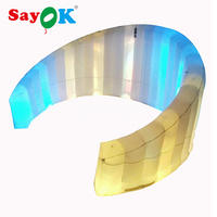 Large led inflatable photo booth wall for wedding, party decoration
