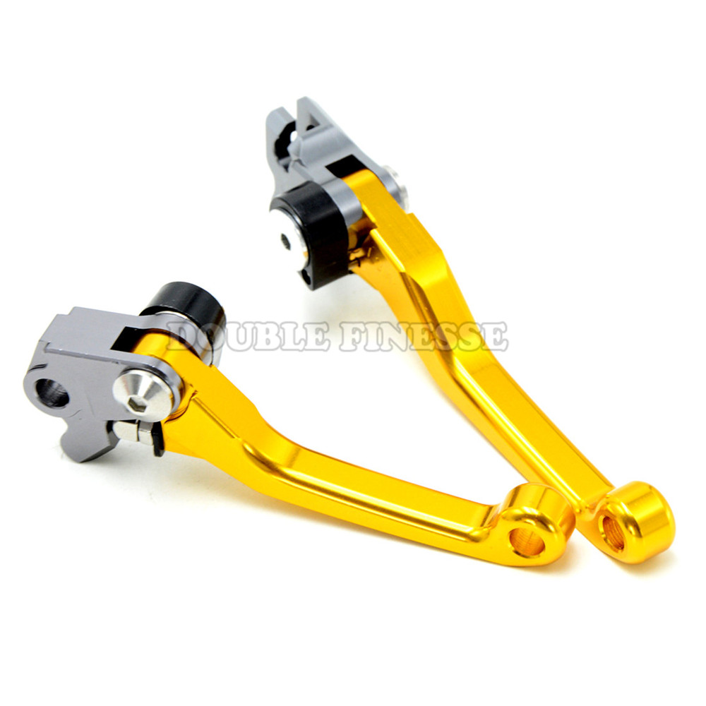 golden motorcycle accessories increased torque of cnc pivot brake clutch levers For KTM 350SX-F  2007 2008 2009 2010 2011 good quality titanium motorcycle accessories increased torque of cnc pivot brake clutch levers for ktm 450 smr 2007 2008 2009