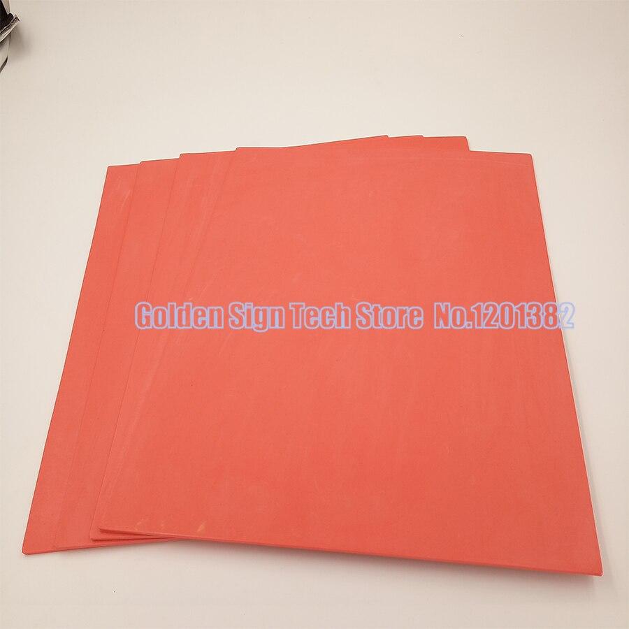 2pcs Red Laser Rubber Sheet Rubber Laser Engraving Sheet