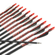 AF 12pcs New Carbon Arrows 31″ Spine 500 Archery Arrows Shaft Target Practice & Screw Tips