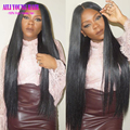 7A Unprocessed Virgin Brazilian Human Hair Glueless Full Lace Wigs with Baby Hair Straight Lace Front U Part Wig for Black Women