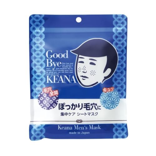 Ishizawa Lab KEANA Men's Pore Care Facial Mask 10 sheets Japan New Free Ship muji japan 4 layers facial cotton pad 60 sheets x 2 box