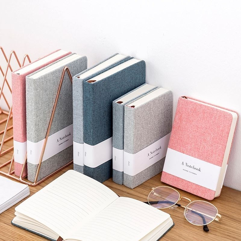Notebook Cloth Cover Vintage Handmade Hardcover Sketchbook Bullet Journal Diary Book Paper Weekly Planner Stationery 016013