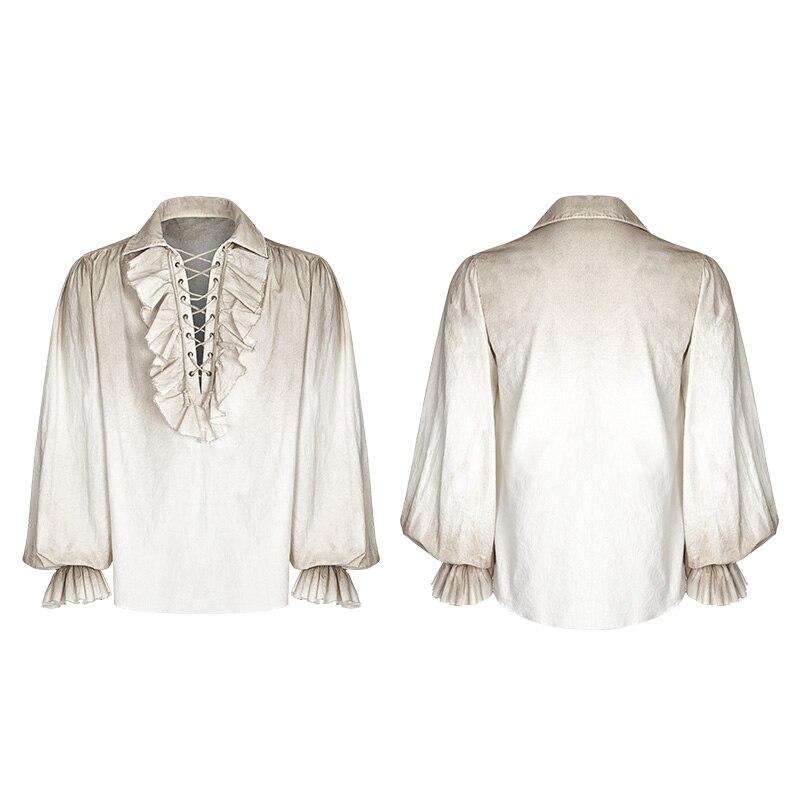 Schwarz Weiß Farben Punk Rave Steampunk Gothic Mode viktorianischen Herren T Shirt Top kleidung WY873-in T-Shirts aus Herrenbekleidung bei  Gruppe 3