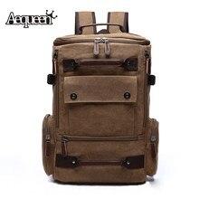 AEQUEEN Canvas Backpack Men Multifunctional Travel Large Capacity Laptop Backapcks School Male Teenagers Casual Rucksack