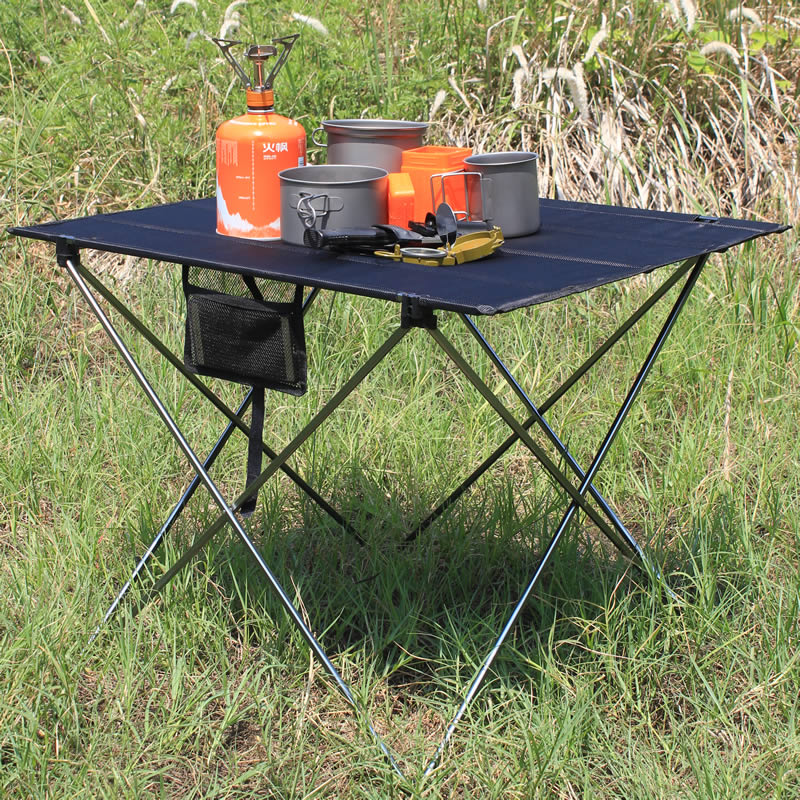 Ultralight Portable Folding Black Table Compact Roll Up Tables with Carrying Bag for Outdoor Camping Hiking PicnicUltralight Portable Folding Black Table Compact Roll Up Tables with Carrying Bag for Outdoor Camping Hiking Picnic