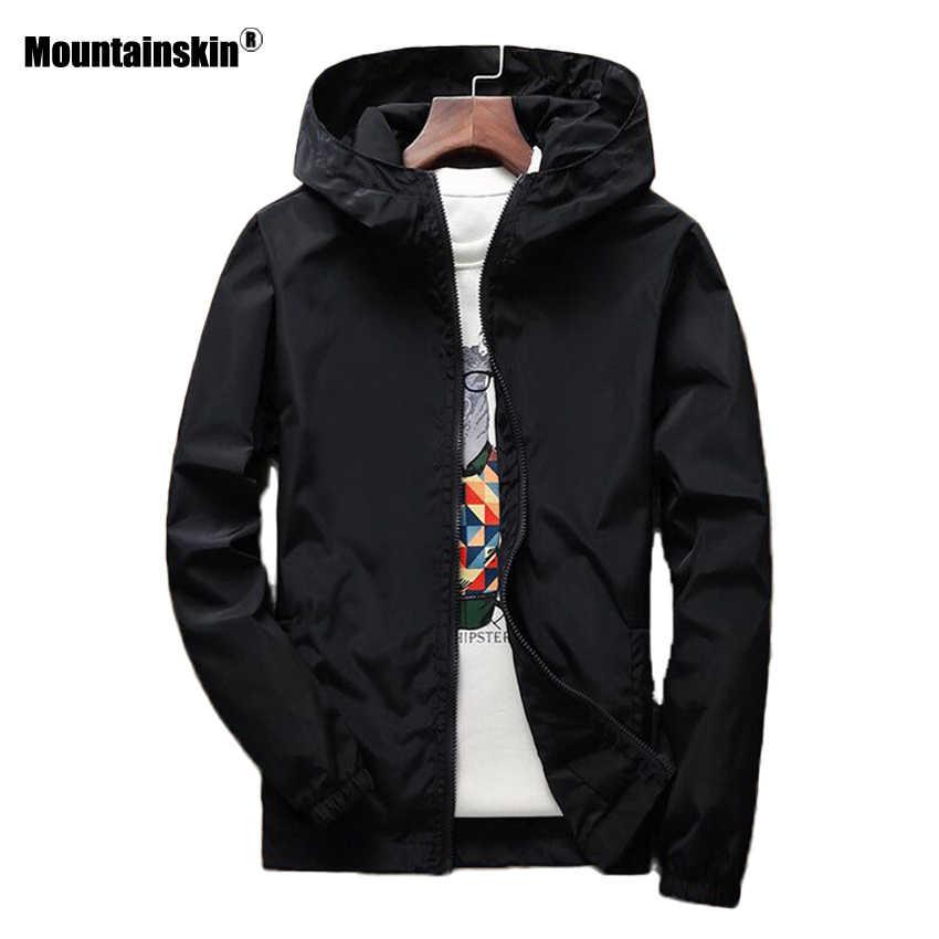 Alpinskin printemps nouveau hommes veste à capuche couleur unie décontracté manteau hommes marque vêtements vêtement d'extérieur pour homme grande taille 6XL 7XL SA485
