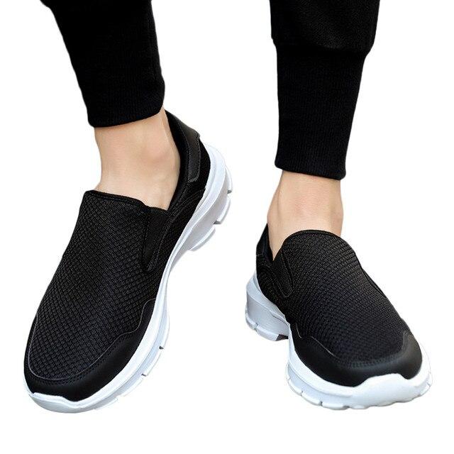 51852945b € 8.7 49% de réduction|SAGACE Non cuir chaussures décontractées léger  respirant baskets chaussures hommes NET paresseux chaussures anti ...
