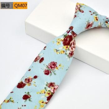 Men s Floral Print Cotton 6cm narrow version of the leisure tie
