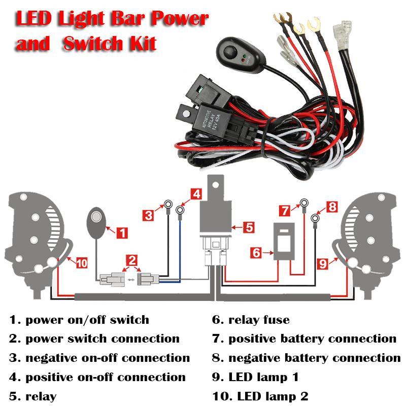 Auxmart Led lichtleiste LED Driving licht nebelscheinwerfer ...