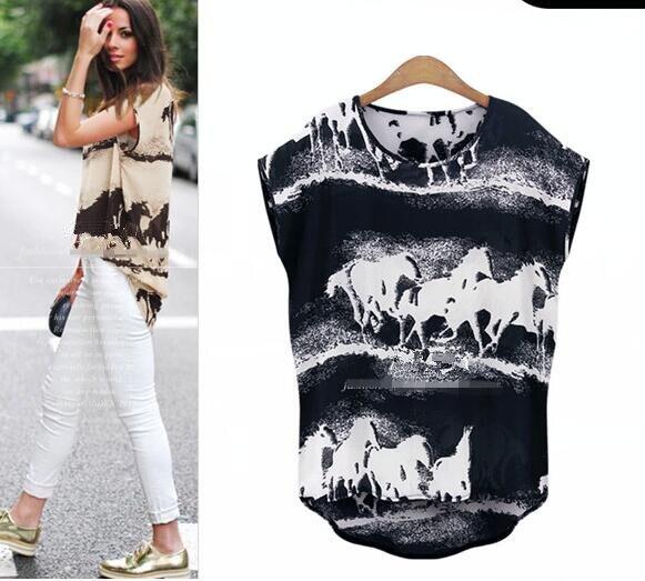 Naujas 2018 mados vasaros moterų marškinėliai atsitiktinis - Moteriški drabužiai - Nuotrauka 2