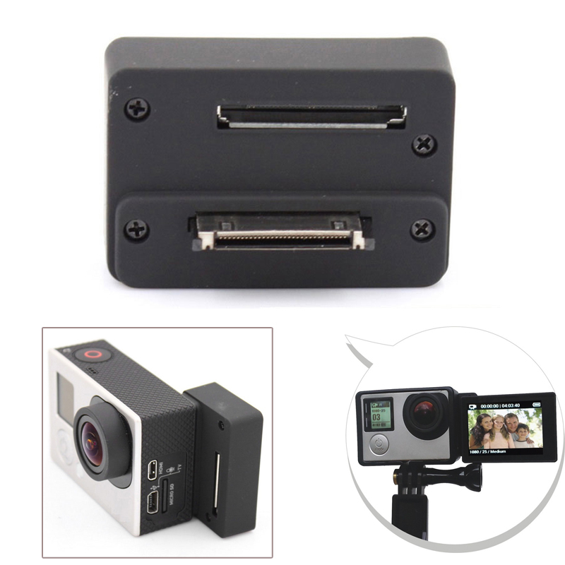 Accessories For GoPro BacPac Screen Connector Adapter For GoPro Hero 4 Hero 3+ 3 Camera Lcd Monitor Selfie Converter Box